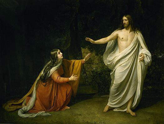 Christ`s Appearance to Mary Magdalene (Aspecto de Cristo a María Magdalena después de la Resurrección) by Alexander Ivanov