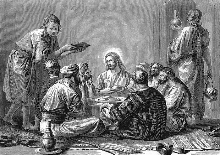 Jesus eats with publicans and sinners by Alexandre Bida