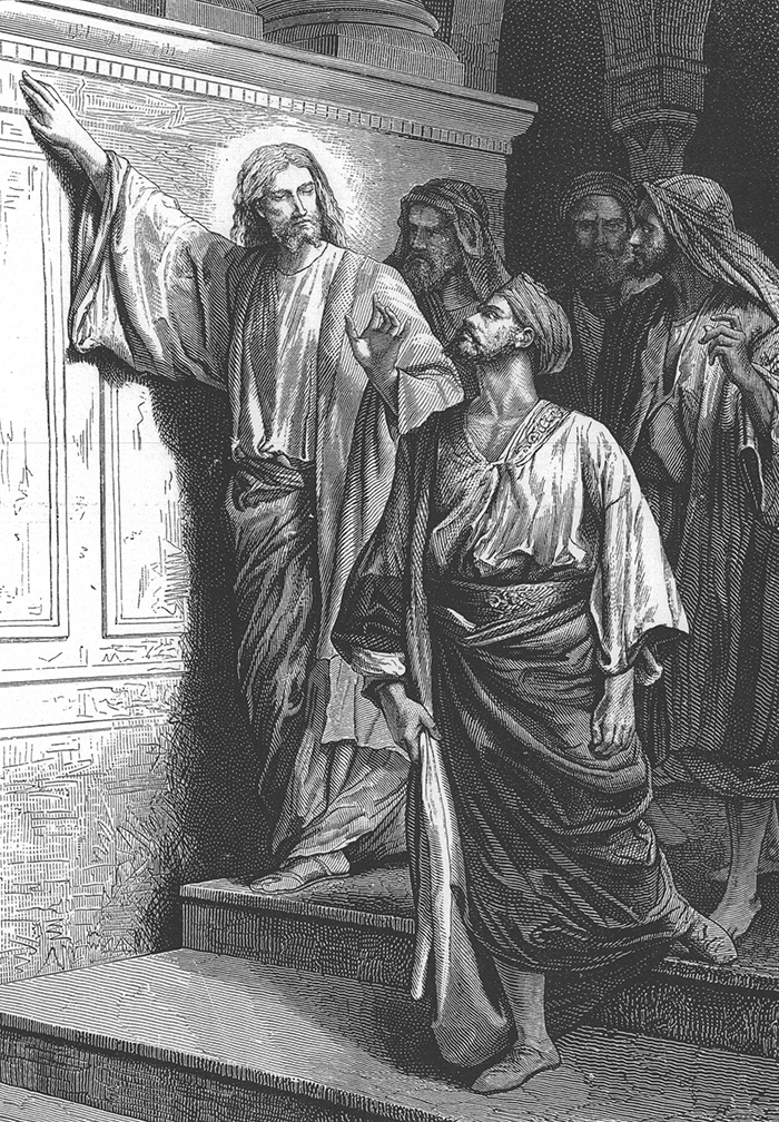 Jesus foretells the destruction of the temple by Alexandre Bida