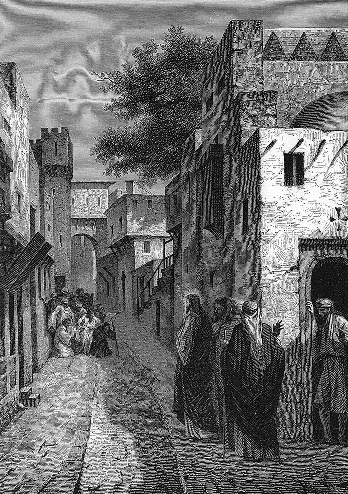 The ten lepers by Alexandre Bida