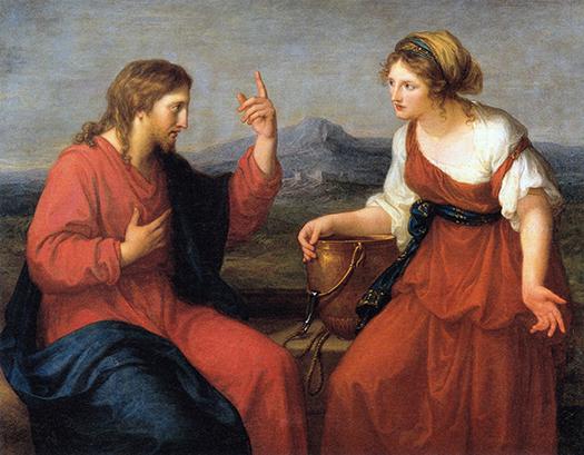 Christ and the Samaritan by the fountain (Cristo y la samaritana junto a la fuente) by Angelika Kaufmann