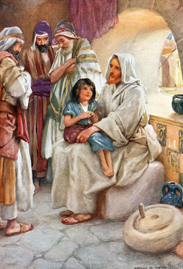 Jesus Teaching the People by Arthur A Dixon