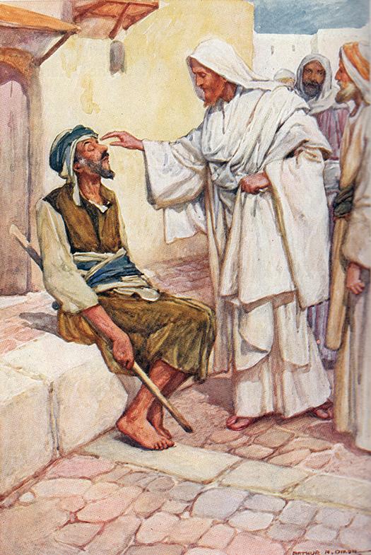 Jesus and the Blind Man (Jesús y el ciego) by Arthur A Dixon