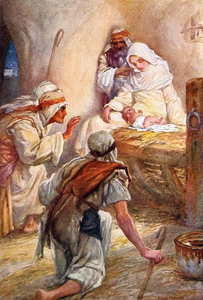 The Adoration of the Shepherds by Arthur A Dixon
