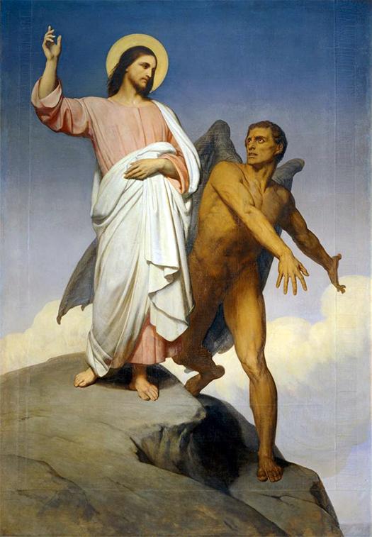 The Temptation of Christ (La tentación de Cristo) by Ary Scheffer