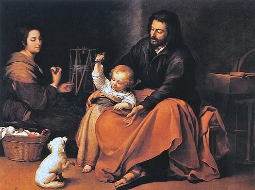The Holy Family by Bartolome Esteban Murillo
