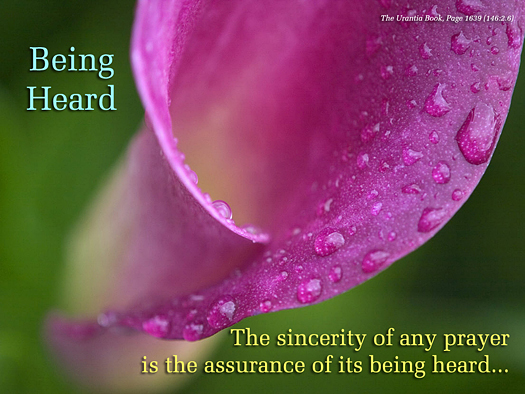 Being Heard - Quote of the Day - Prayer