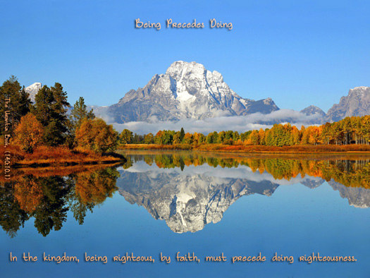 Being Precedes Doing