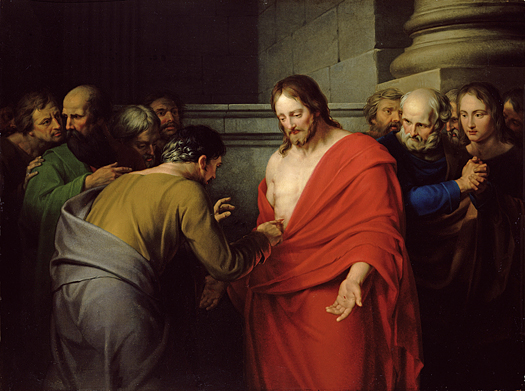 The Incredulity of St Thomas (La incredulidad de Santo Tomás) by Benjamin West