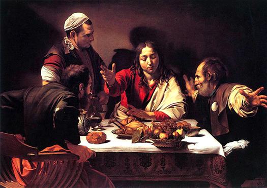 At Emmaus (En Emaús) by Caravaggio