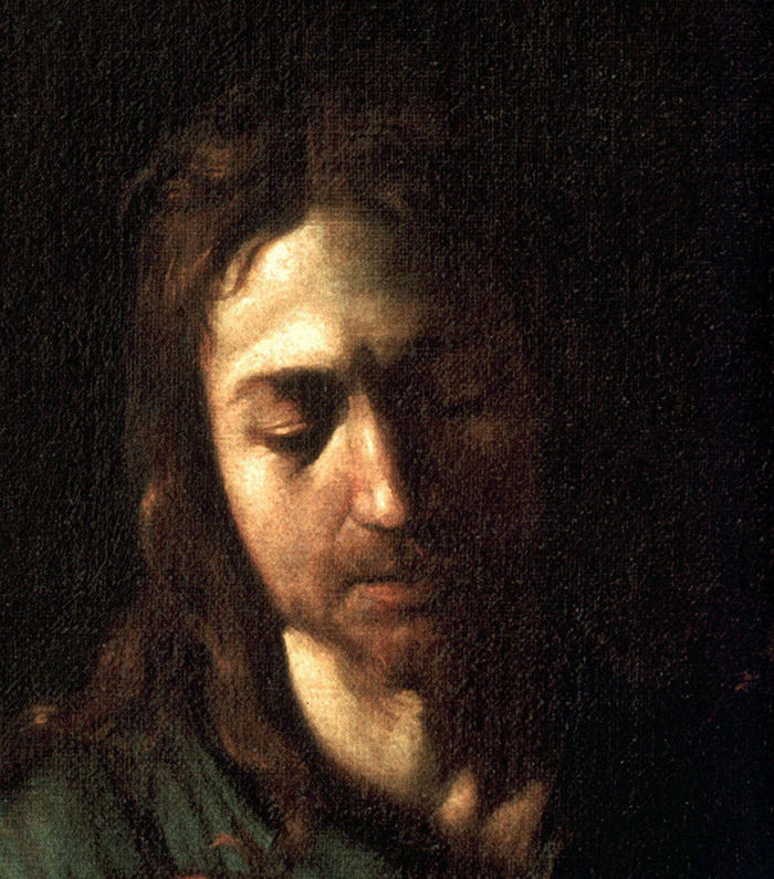 Emmaus Supper at Emmaus (Detail) by Caravaggio