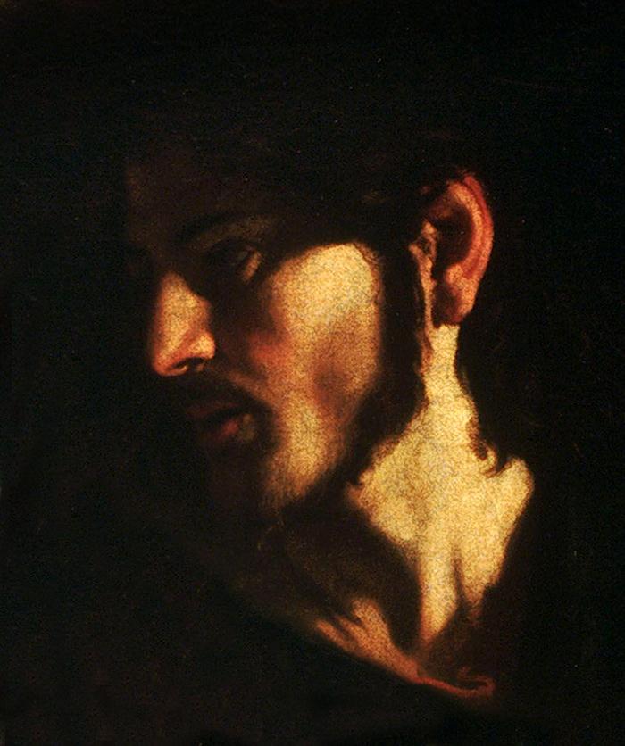 Jesus (detail) by Caravaggio