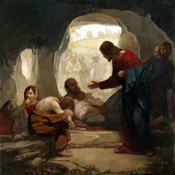 Christ amongst the lepers by Carl Bloch