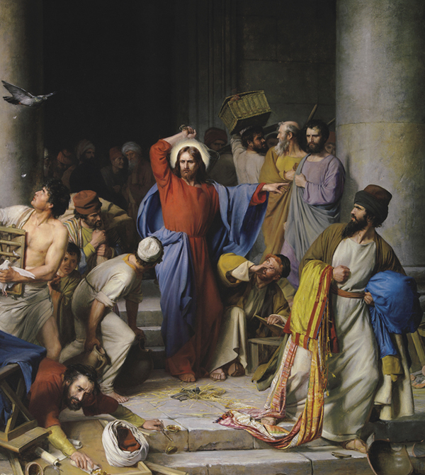 Jesus Clears the Temple by Carl Bloch