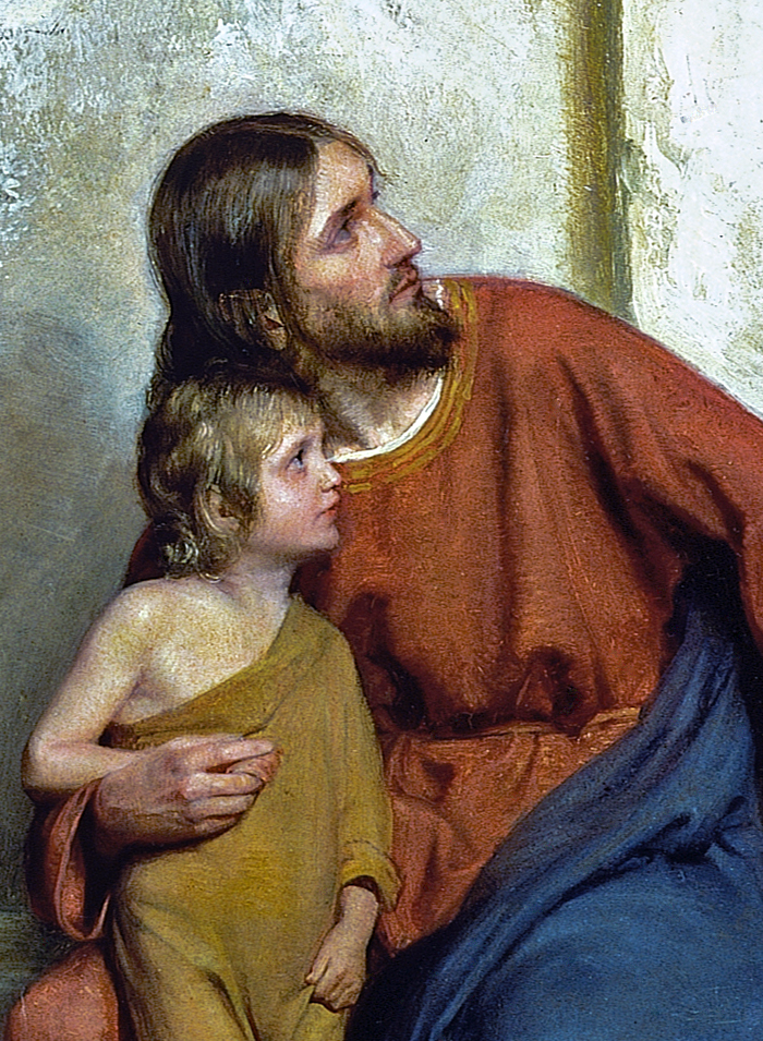 Christ With Children (Detail) by Carl Bloch