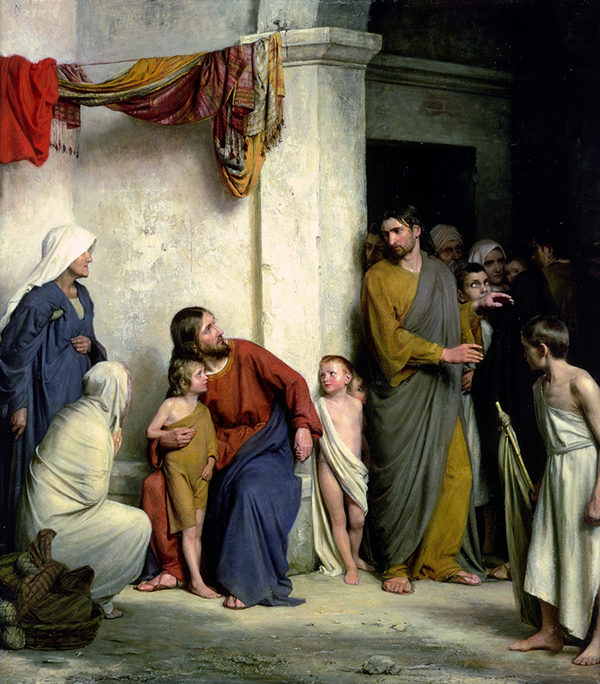 Let the Children Come to Me by Carl Bloch