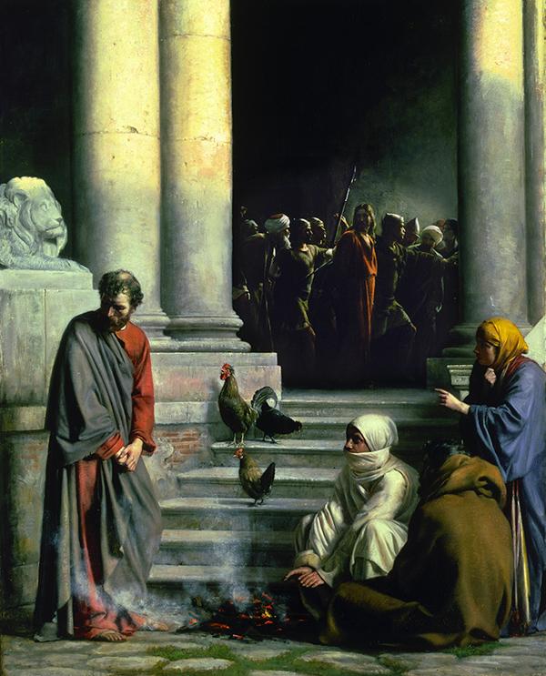 Peter's Denial by Carl Bloch