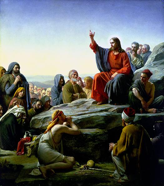 Sermon on the Mount (Sermón de la Montaña) by Carl Bloch