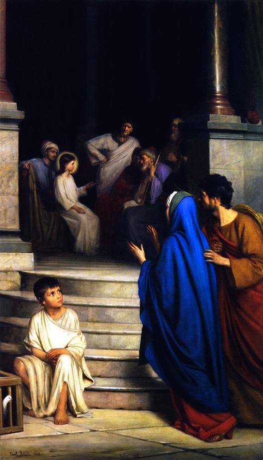 Twelve Year Old Jesus in the Temple (Doce años Jesús en el Templo) by Carl Bloch