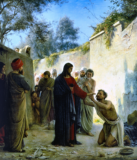 Healing of the Blind Man (La curación del ciego.) by Carl Bloch