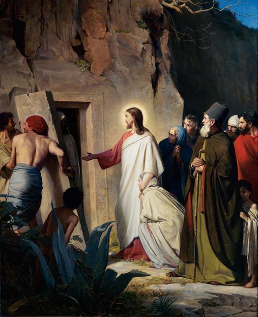 Jesus raising Lazurus (Jesús resucitar a Lázaro) by Carl Bloch