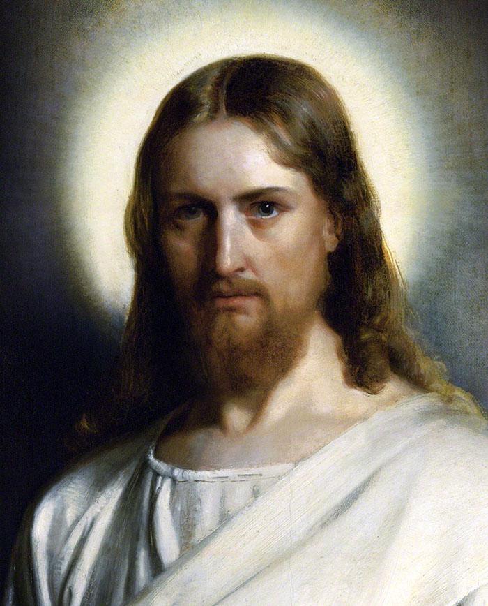 Portrait of Christ by Carl Bloch