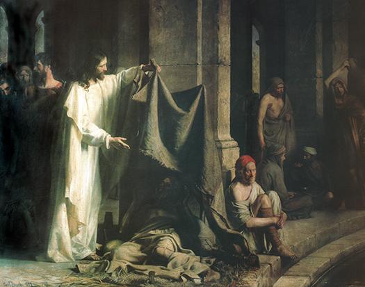 The Healing at the Pool of Bethesda (La sanidad en la piscina de Betesda.) by Carl Bloch