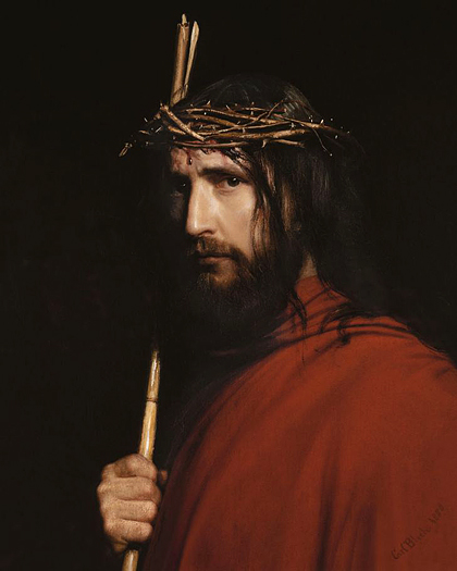 Christ and Thorns by Carl Bloch