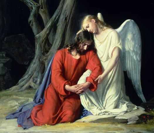 In Gethsemane (Cropped) by Carl Bloch