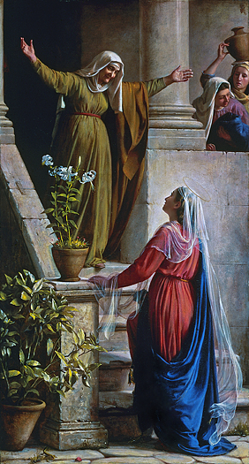 Mary and Elizibeth by Carl Bloch
