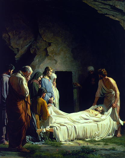 The Entombment of Christ by Carl Bloch