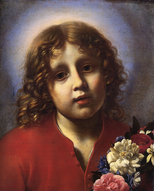 The Christ child with flowers (El niño Jesús con flores) by Carlo Dolci