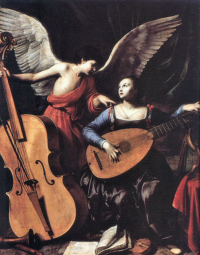 St Cecilia with an Angel by Carlo Saraceni