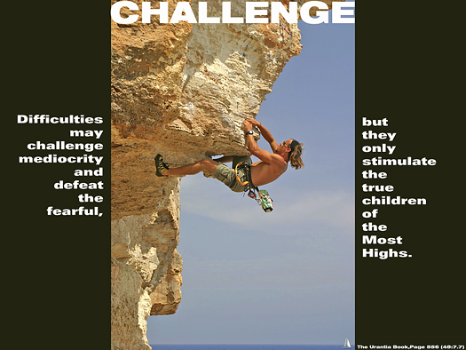 Challenge - Quote of the Day - Difficulties