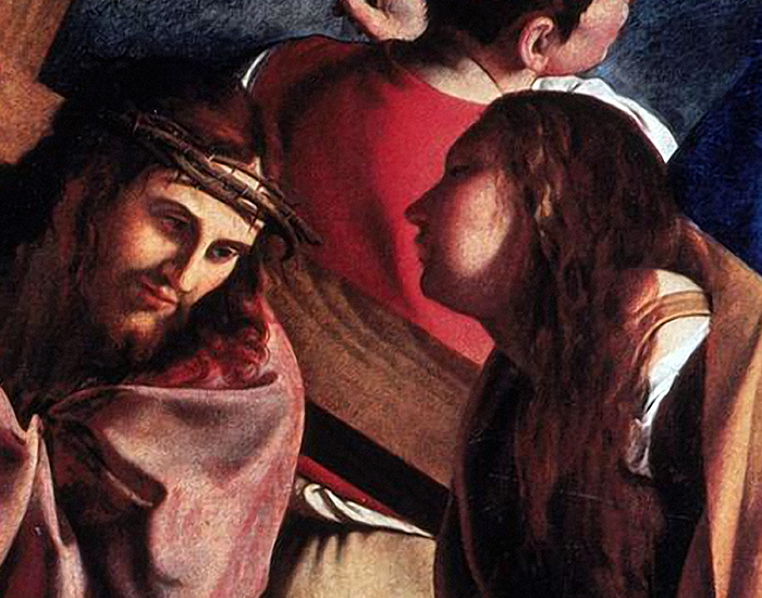 Christ on the Road to Calvary (detail) Circle of Caravaggio