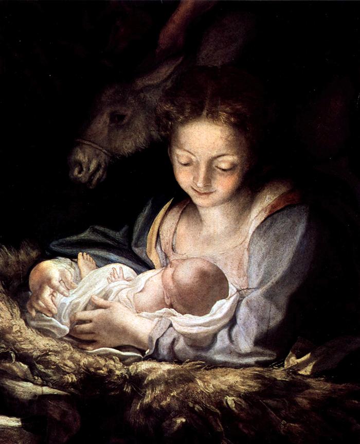 Maria und Kind by Correggio