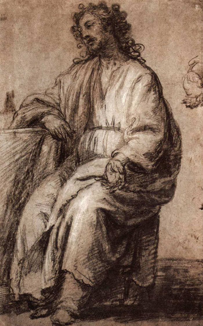Study of a seated Christ by Diego Velazquez