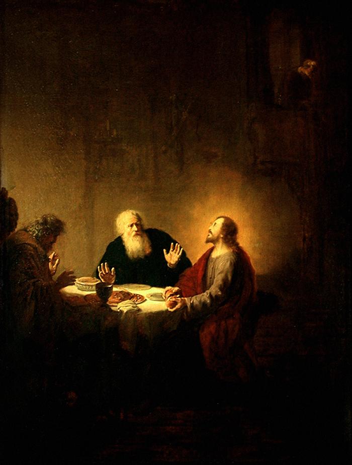 The Emmaus Pilgrims by Dirck van Santvoort