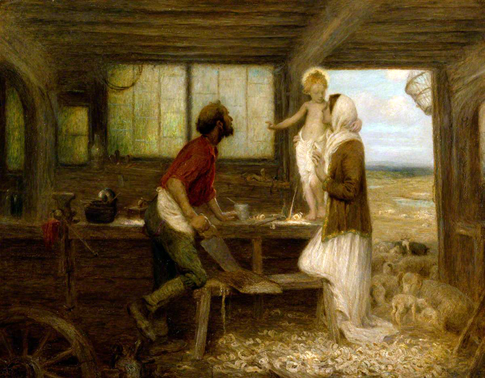 The Carpenters Shop by Edward Stott