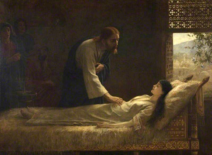 The Raising of Jairus' Daughter by Edwin Longsden Long