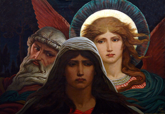 The Sorrowing Soul between Doubt and Faith by Elihu Vedder