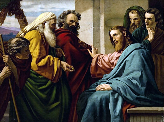 Christ and the pharisees (Cristo y los fariseos) by Ernst Zimmerman