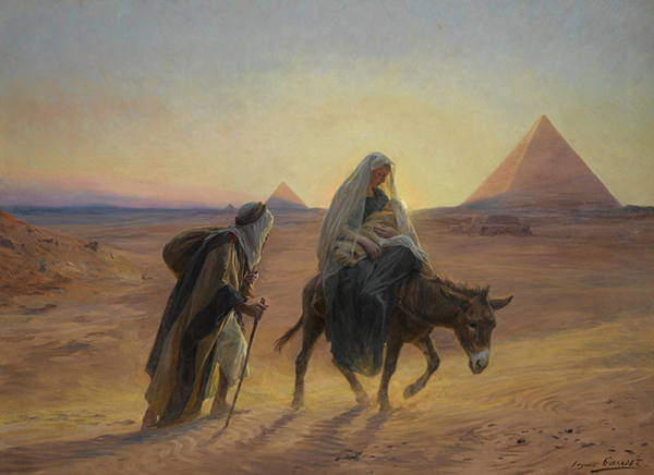 The Flight into Egypt by Eugène Girardet