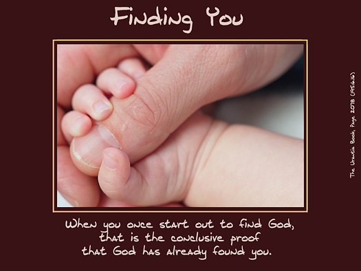 Finding You - Quote of the Day - God, searching