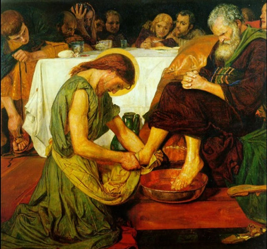 Washing Peter`s Feet (Lavar los pies de Pedro) by Ford Madox Brown