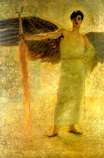 The Guardian of Paradise by Franz von Stuck