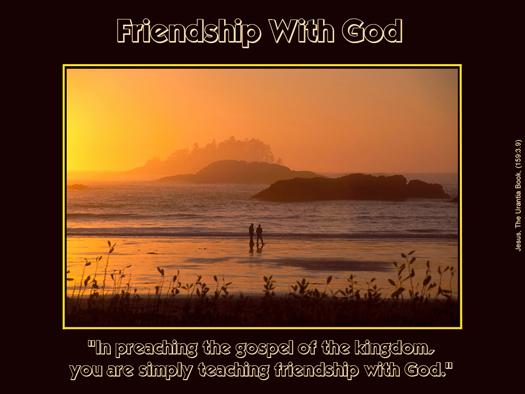 Friendship With God