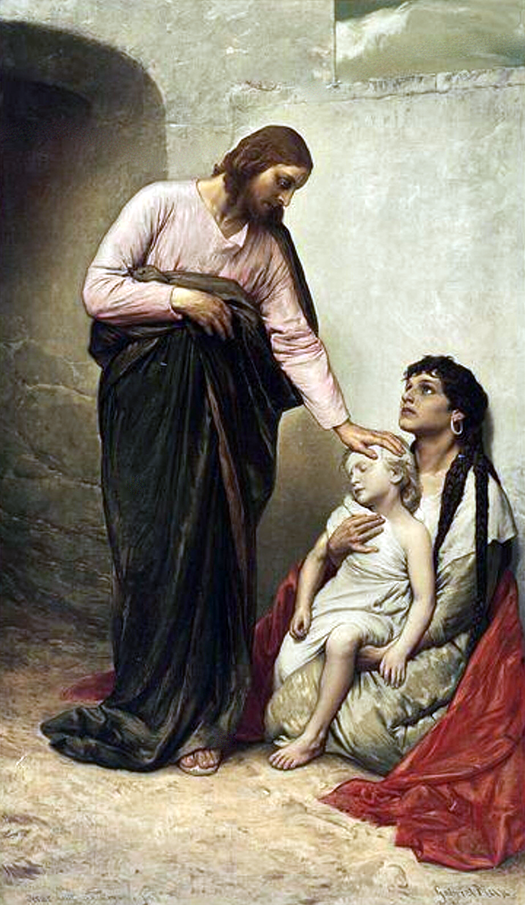 jesus healing the sick by gabriel max