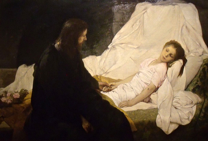 The Raising of the Daughter of Jairus by Gabriel Max