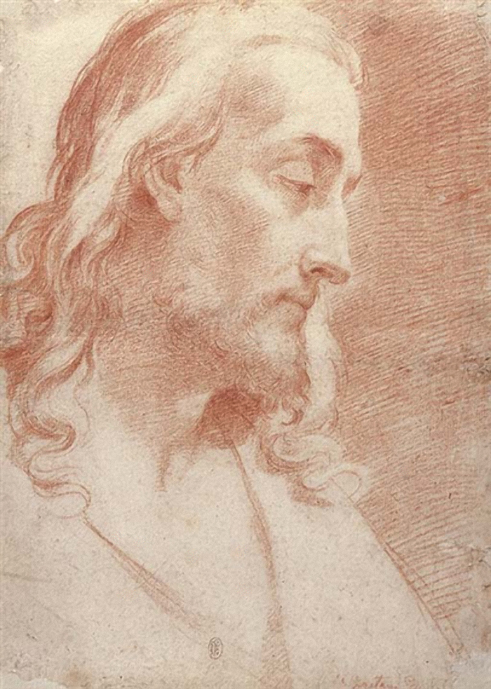 Head of Christ by Gaetano Gandolfi